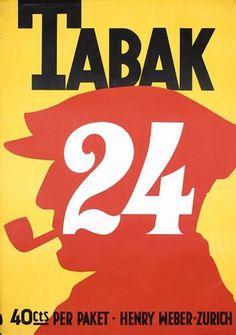 Vintage Swiss Tobacco Poster 1920s #vintage ad