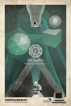 The Hydra | Flickr: Intercambio de fotos #movie #design #graphic #hanso #initiative #dharma #vintage #poster #collage #lost
