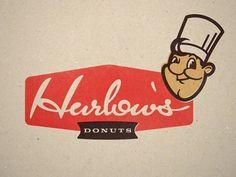 Dribbble - Harlow's Donuts by Kyle Dingman #logo #script #retro #donuts