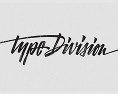 Type Division #logotype #handwriting #handwritten #logo #typography