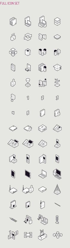 Datera SA Isometric Icon Set designed by Perconte #illustration #isometric #icons