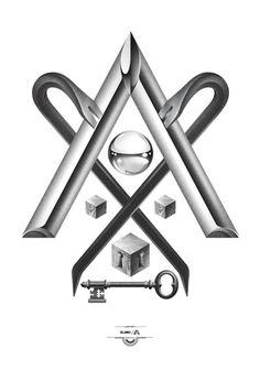 Designersgotoheaven.com @andreirobu Trabalho Sujo - Designers Go To Heaven #crowbar #illuminati #logo