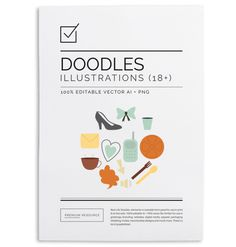 Project Life Doodles $6.00 Project life doodles set includes a wide variety of doodle clip art in 100% editable .AI vector and .PNG image fo