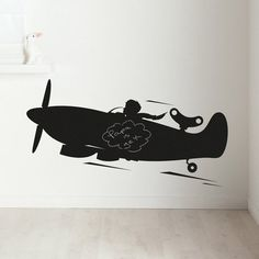 Airplane Chalkboard Wall Sticker