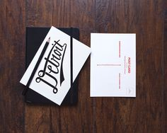 Letterpress Detroit Postcard by DetroitWoodTypeCo on Etsy