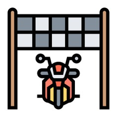 See more icon inspiration related to race, bike, sports and competition, motor sports, finish line, transportation, start, bikes, motorcycle, motorbike and transport on Flaticon.