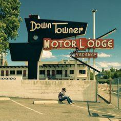 vintage sign for a motel