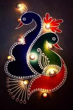 Diwali rangoli easy designs