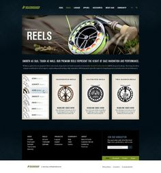 Sage Fly Fishing on the Behance Network #website