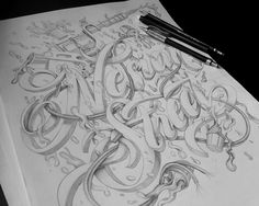 T Shirt Design Nesian Street on Behance #lettering #hand #made #type #pencil #sketch