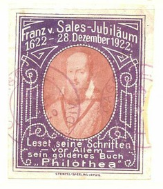Poster-Stamp-Leipzig-Germany-1922-Franz-Sales-Jubilee.jpg (344×400)