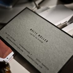 N.H. #card #print #letterpress #business