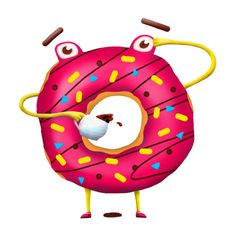 #pchelisimus #donut #coffee #morning #character