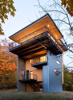 Glen Lake Tower – A four-level, 1,400 square feet home near Glen Lake, Michigan.