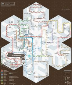 ZEROPERZERO #zeroperzero #map #subway #railway #hokkaido