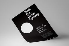 Black Dot. by A&A #graphic design #poster #print #circle