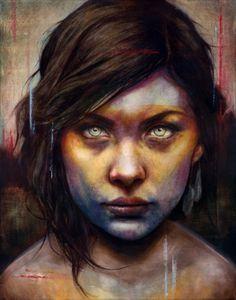 Una-by-Michael-Shapcott_web.jpg (JPEG Image, 530×674 pixels) #portrait #painting #michael schapcott