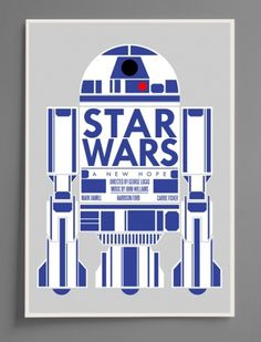 A New Hope #movie #design #screenprint #graphic #wars #illustration #poster #film #star #r2d2