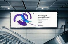 #WeLoveNoise #Flightglobal #generative #art #advertising #billboard