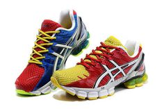 Mens Asics Gel Kinsei 4 Red Yellow Blue Shoes #shoes