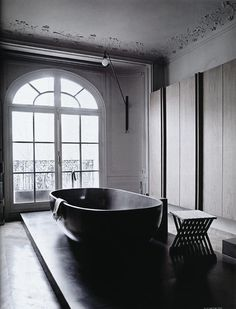 CJWHO ™ (Bathroom photographed by Sisters Agency for Elle...) #decor #interiors #black #bathroom #photography #contrast #elle #italy
