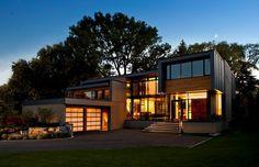 House Incorporating Distinctive Blue Zinc Cladding by Altius Architecture #architecture #modern