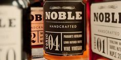 Noble Handcrafted - TheDieline.com - Package Design Blog #packaging #type #handcrafted #noble