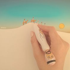 DESERT JOURNEY ❑ illustration by @iSKiii