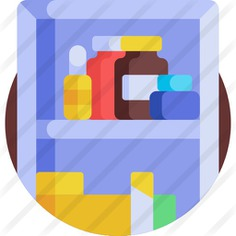 See more icon inspiration related to medicine cabinet, healthcare and medical, furniture and household, medical equipment, pills, medication, drugs, furniture, cabinet, medicines, healthcare, health and medical on Flaticon.