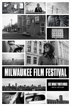 Campaign poster for 2015 Milwaukee Film Festival. #milwaukee #milwaukeefilm #milwaukeelandmarks #illustration