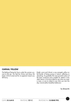 carnal yellow