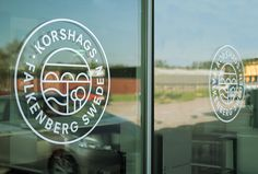 Korshags by Kurppa Hosk #brand design #logo #sign #glass print