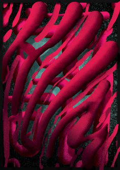 #experimental #typography #type #space #hum #pink #lettering #design #digitalpainting #poster