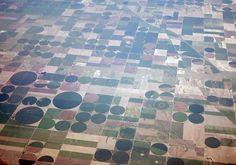 Operation Window Seat: LAX - PIT (NOTCOT) #fields #photography #circles