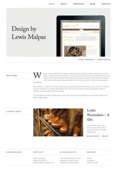 The website design showcase of Lewis Malpas. #website #grid