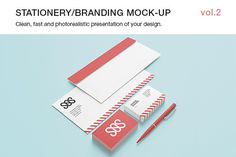 Stationery / Branding Mock-up vol.2  https://creativemarket.com/itembridge/17021-Stationery-Branding-Mock-up-vol.2  Photorealistic Branding