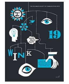FFFFOUND! | Google Reader (1000+) #sun #wink #head #bird #eye #illustration #poster #lightbulb #hand