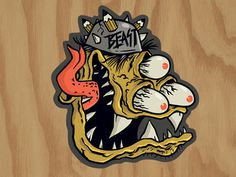 Beast Sticker #beast #design #illustration #monster #character