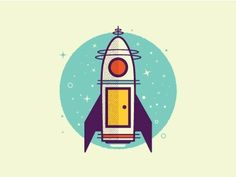 Dribbble - It's a rocket ship by Zach Graham #ship #rocket #ilustration