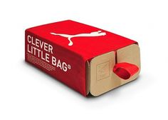 Fancy - Puma Clever Little Bag designed by fuseproject #packing #red #branding #box #puma