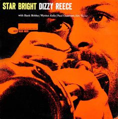 Dizzy Reece, Blue Note 4023 monotone jazz album cover