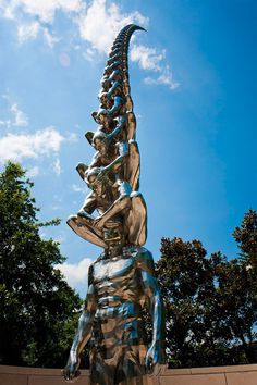 Karma: A Tower of Blinded Men Rising into the Sky by Do Ho Suh #sculpture #art