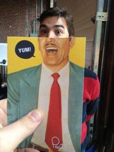 Pastaria St. Louis Check Postcard Fun #graphic design #identity