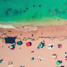 Beachscapes of Miami: Minimalist and Colorful Drone Photography by Luis Aguilera