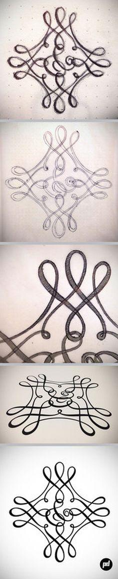 Amperos font, full process 5, hand lettered ampersand series, by Petre Spassov #font #amperos #lettering #petrespassov #ampersand #typography