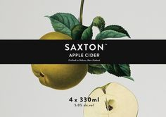 Best Awards - Supply. / Saxton #packaging #cider #apple #label