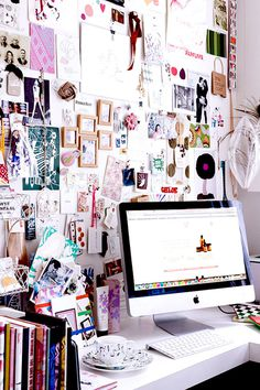 at the office : inspiration boards #office #desk #home #workspace