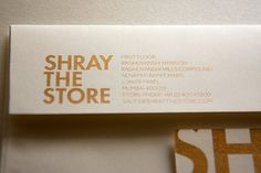 Luxury Retail Store - Shray on the Behance Network #branding #india #bombay #design #graphic #shray #envelope #gold #retail #luxury