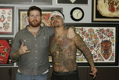 Aaron Sanchez At The Shop Only You Tattoo
