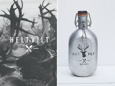 Helt Vilt #logo #design #graphic #bottle